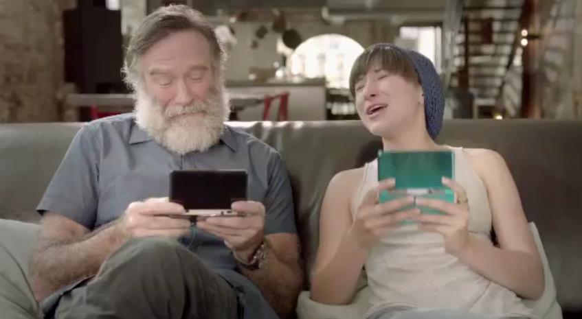 Pub 3DS : Quand Robin Williams nous parle de sa    fille