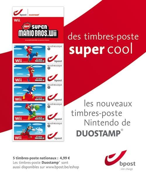 Belgique – Des timbres Mario!