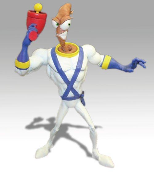 Une figurine pour Earthworm Jim