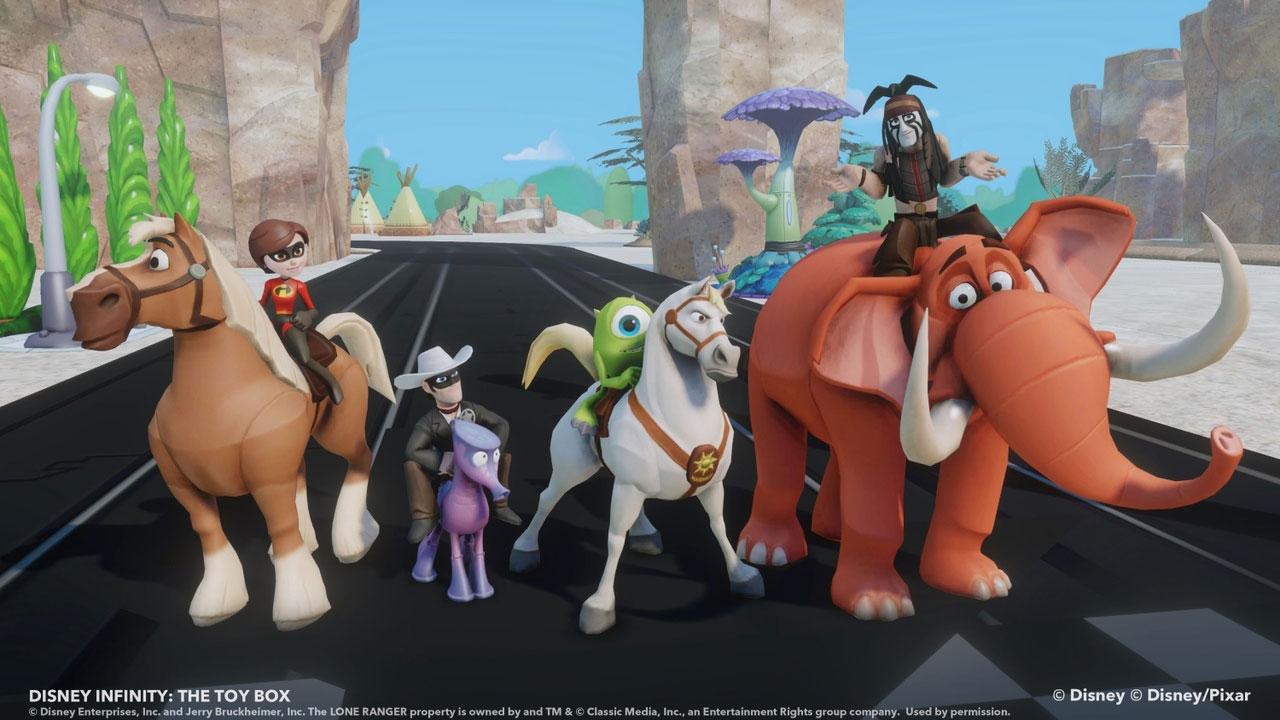 Disney Infinity : un peu de combat dans le mode Toy Box