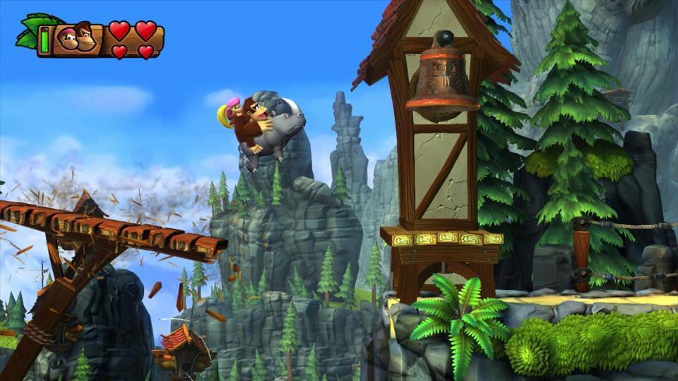 Un peu de Donkey Kong Country Returns : Tropical Freeze en vidéo