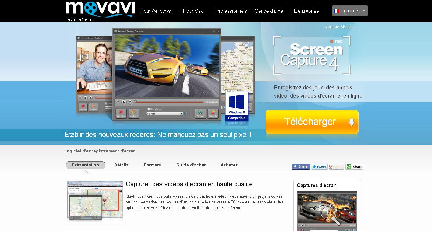 Test et avis sur le logiciel de capture Movavi Screen Capture