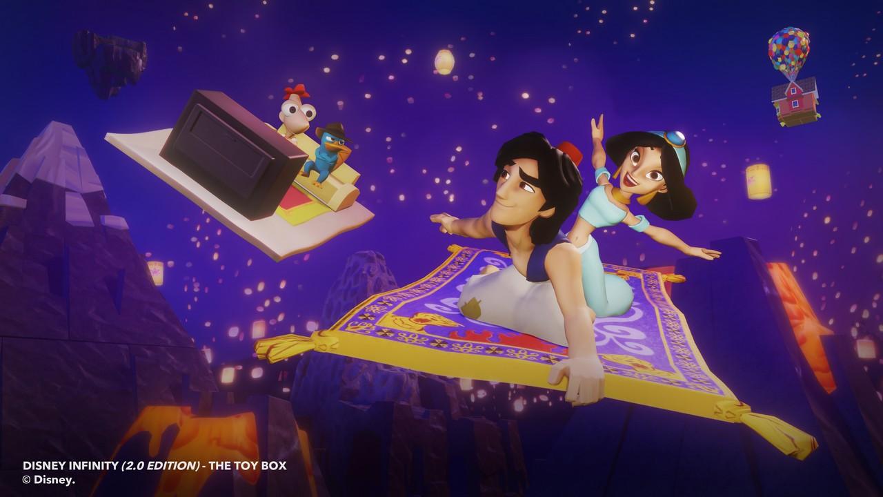Aladdin et Jasmine dans Disney Infinity 2.0