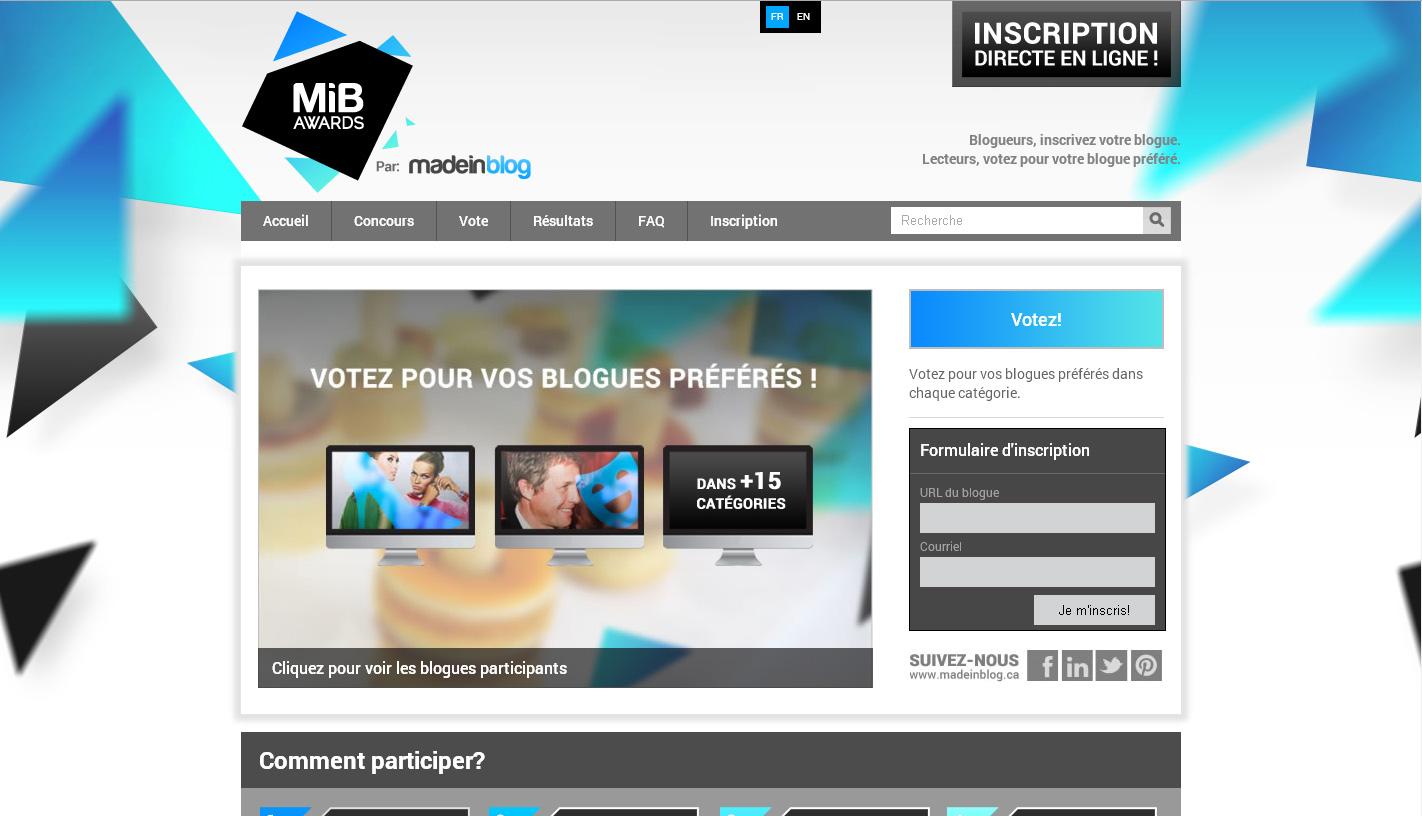 Venez soutenir PixelSprite au MiB Awards !