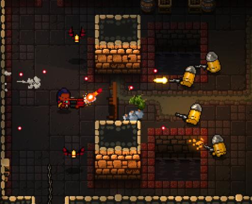 Les ennemis sont de vraies têtes de balle, littéralement.