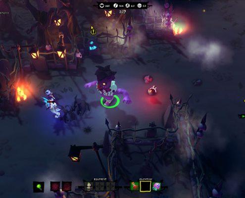 Le jeu emprunte clairement des mécaniques aux Hack'n Slash