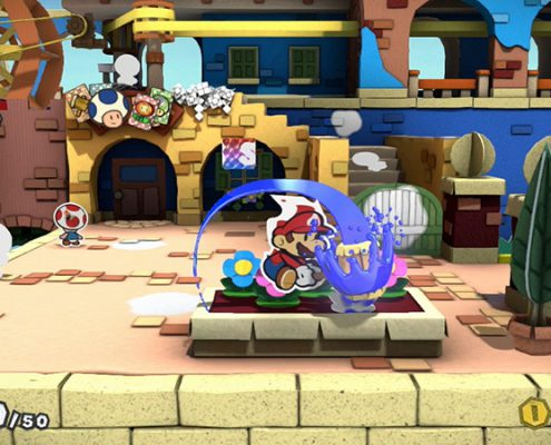 Le marteau... une arme multi usage dans Paper Mario Color Splash